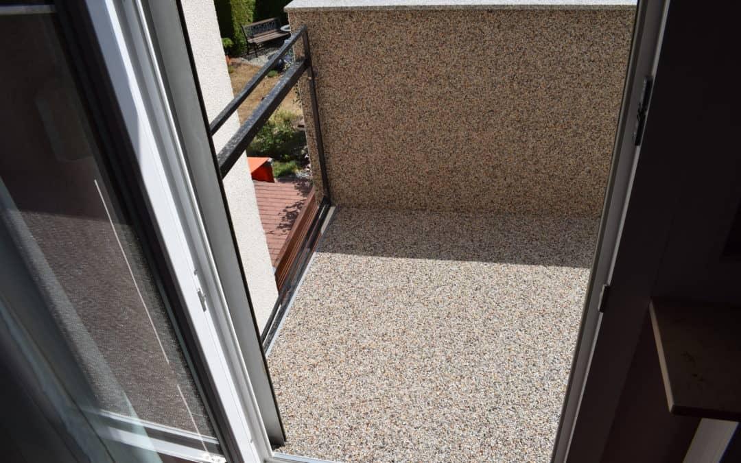 Balkon-Sanierung mit Steinteppich in Flörsheim am Main