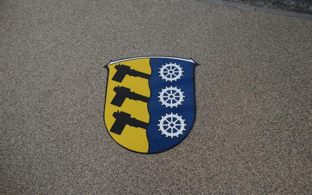 Ortswappen von Aschbach der Gemeinde Wald-Michelbach mit Steinteppich