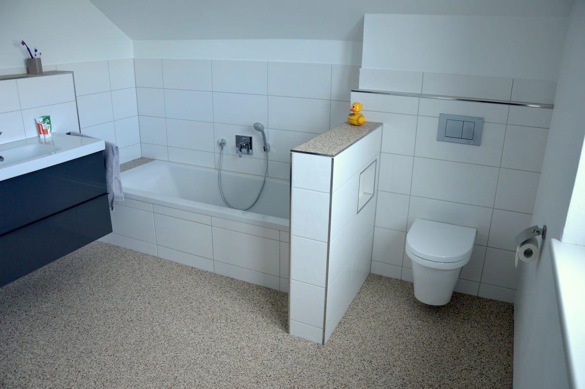 Exklusive steinteppiche wohnhaus neubau mit steinteppich - Bodenbelag badezimmer fugenlos ...